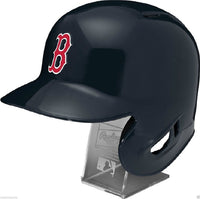 Boston Red Sox Rawlings Full Size Batting Helmet - Left Ear Flap - with Display stand