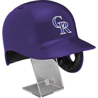 Colorado Rockies Rawlings Full Size Batting Helmet - Left Ear Flap - with Display stand