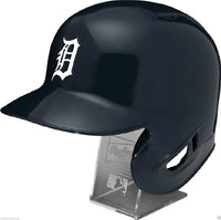 Detroit Tigers Rawlings Full Size Batting Helmet - Left Ear Flap - with Display stand