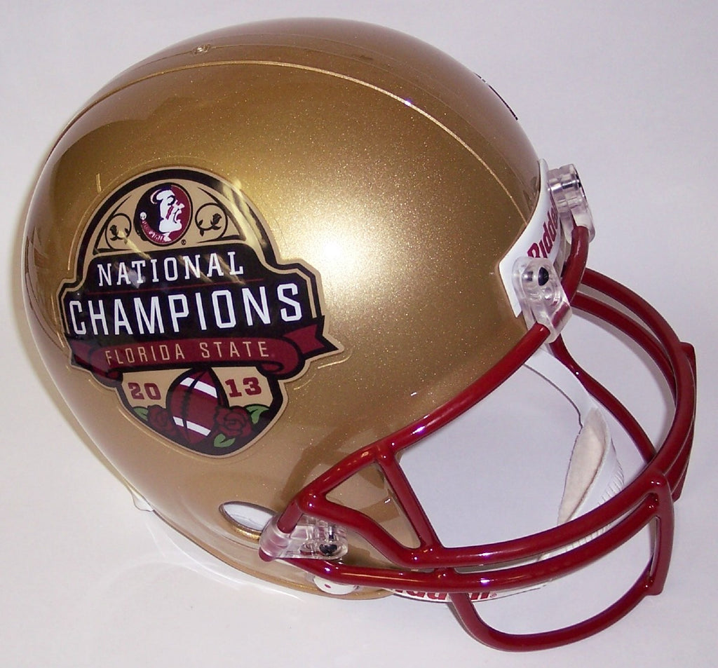 2013 BCS National Champs FSU Florida State Seminoles Riddell Full Size Deluxe Replica Football Helmet