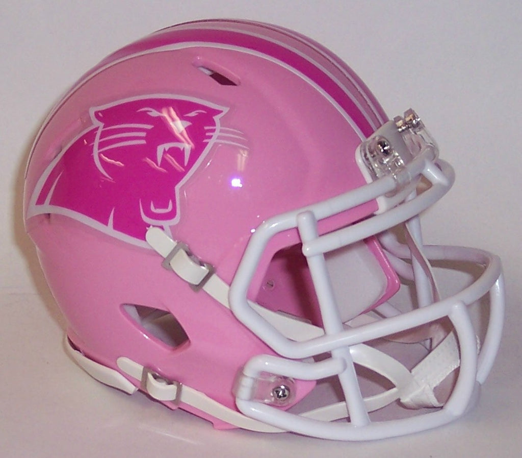 02ba5a6d0da04 Carolina Panthers Riddell Speed Pink Mini Football Helmet