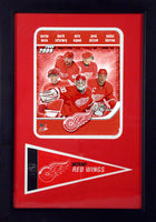 "2009 Detroit Red Wings Photograph with Team Pennant in a 12"" x 18"" Deluxe Photograph Frame"