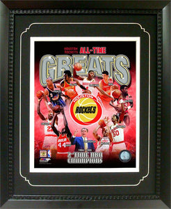 11x14  Deluxe Frame - Houston Rockets Greats