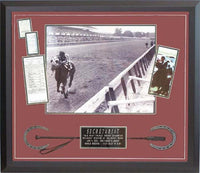30x34 Autographed Frame - Ron Turcotte and Secretariat Winning the Belmont Stakes