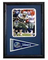 12x18 Pennant Frame - Emmit Smith Dallas Cowboys