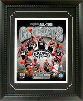 11x14  Deluxe Frame - San Antonio Spurs Greats
