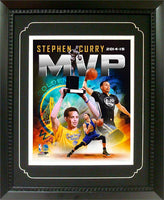 11x14  Deluxe Frame - Stephen Curry Golden St Warriors MVP