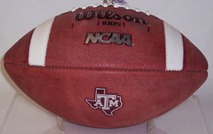 Texas A&M Official Wilson NCAA Leather Football