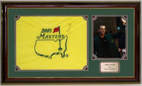15x35 Autographed Frame - Mike Weir 2005 Masters Pin Flag