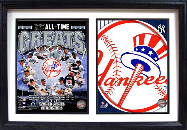 12x18 Double Frame - New York Yankees Greats