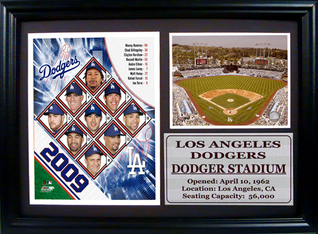 12x18 Photo Stat Frame - 2009 Los Angeles Dodgers