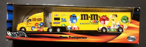 Hot Wheels 2001 Ken Schrader M&M Nascar Racing Team Transporter