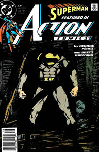 This is an issue of DC's Action Comics #644, released in August of 1989. This issue features a story of Superman, with Doppelganger taking his form upon the cover.