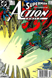 "This is an issue of DC's Action Comics #646 featuring Superman and titled ""Burial Ground"", released in October of 1989. In this story, Superman investigates a disturbance while in Antarctica."