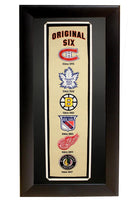 """Original Six"" 11x27 Patch Panoramic Frame"