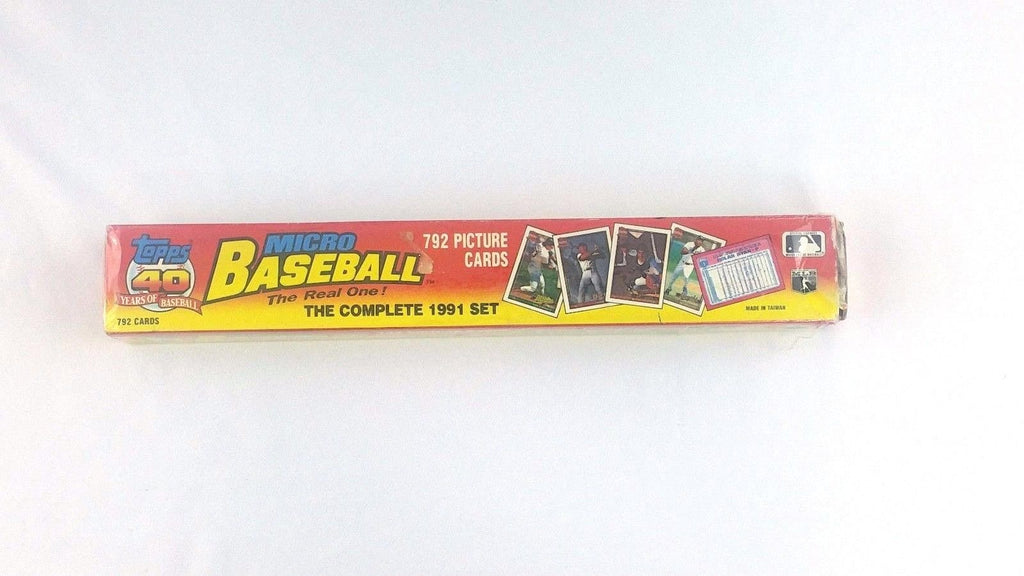 This is a 1991 Topps Micro mini baseball card complete set. There are 792 cards in the set. In great condition.