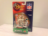 Made by Hasbro in 1999. This model corvette has Dan Marino themed all over it! Get this rare item today as it is new in package with a great conditioned blister card.