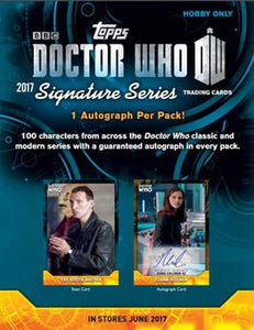 2017 Topps BBC Doctor Who Signature Series Packs