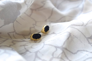 Libby Druzy Studs in Navy