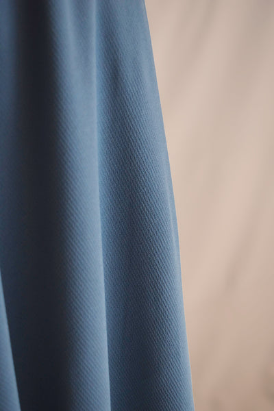 Vivian Flowy Midi Skirt in Slate Blue