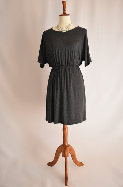 Mia Dress in Charcoal