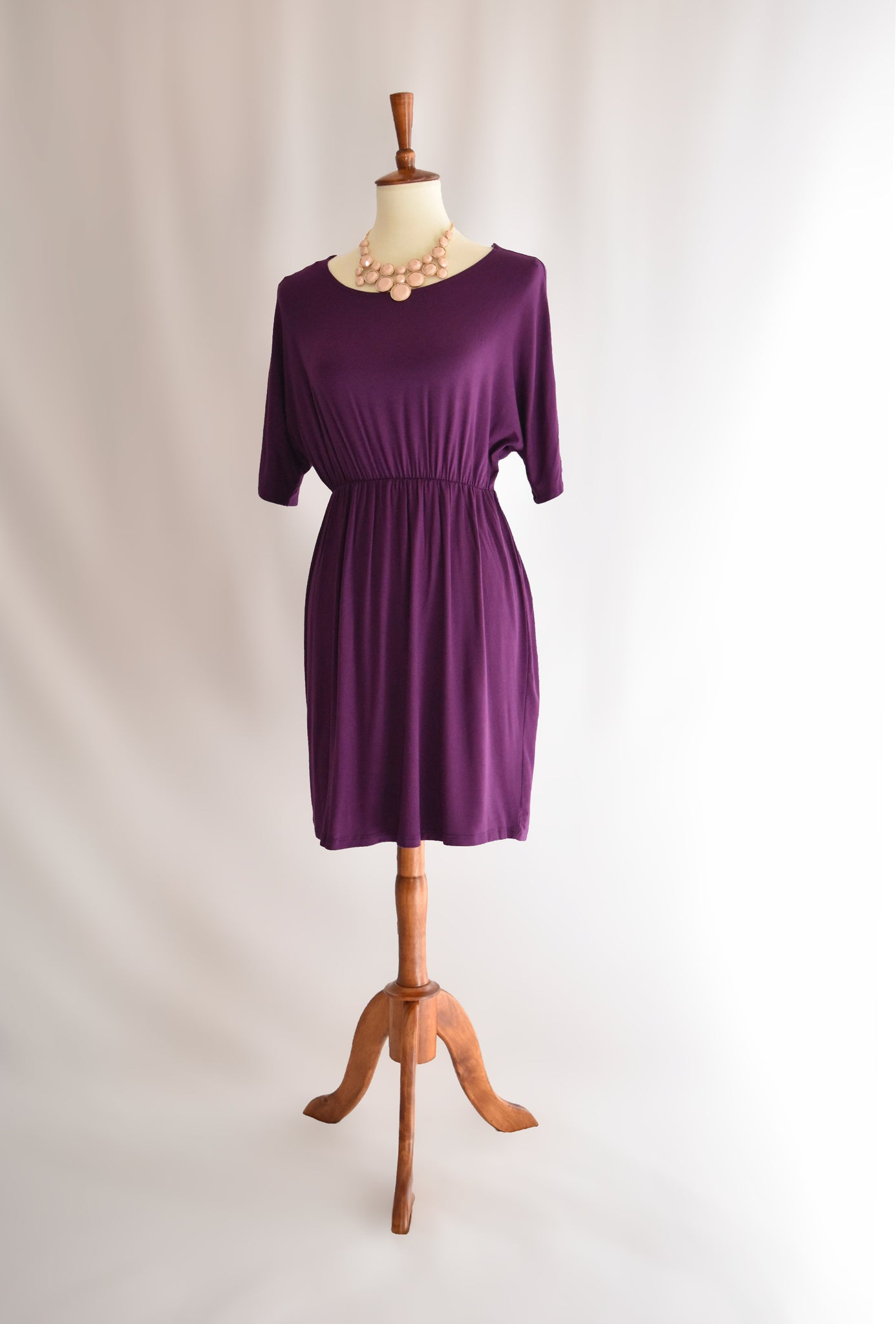 Mia Dress in Eggplant