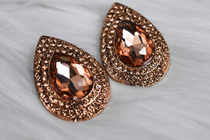 Lyla Tear Drop Earrings in Rose Gold