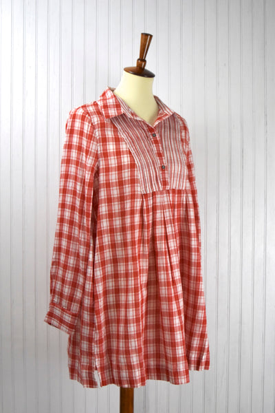 Tunic Plaid Long Sleeve Dress