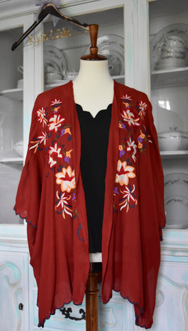 Sienna Kimono in Red Clay