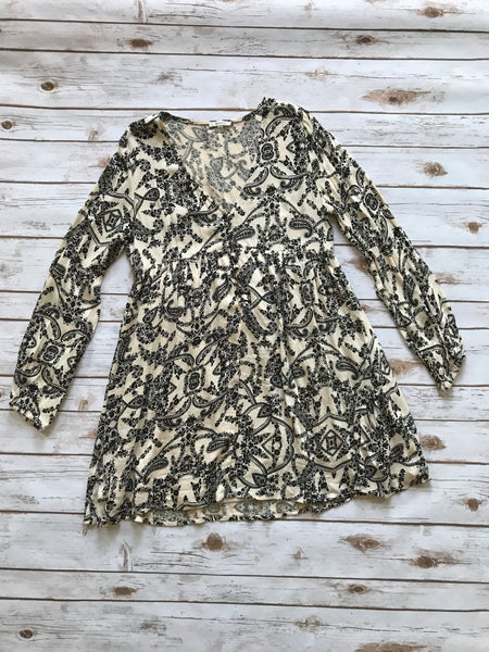 Black and White Paisley Dress-Small