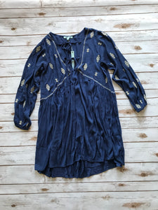 Tie Front Navy Dress-Small