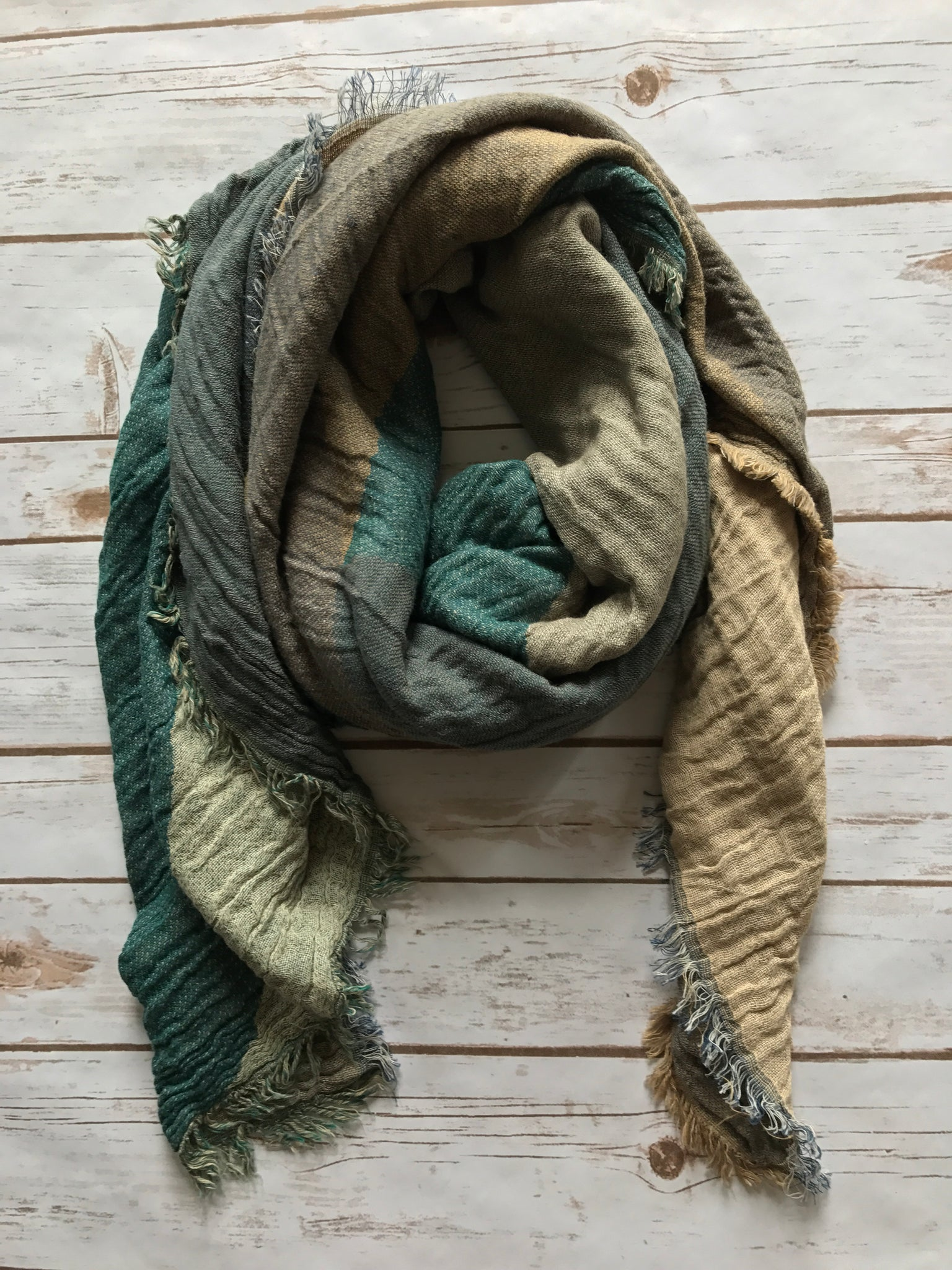 Lainey Blanket Scarf in Teal