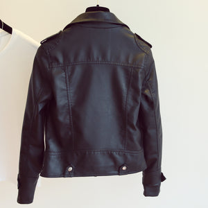 Soft Faux Leather Moto Jacket