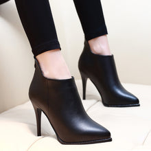Women Ankle Boots Pointed Toe Shoe