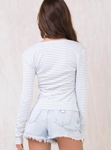 BRUSHED MODAL STRIPE TOP