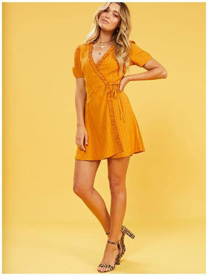 SELINA FRILL WRAP DRESS