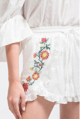 POPPY EMBROIDERED SHORT
