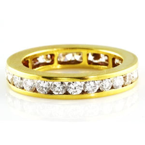 4.00CT Channel Set Eternity Ring