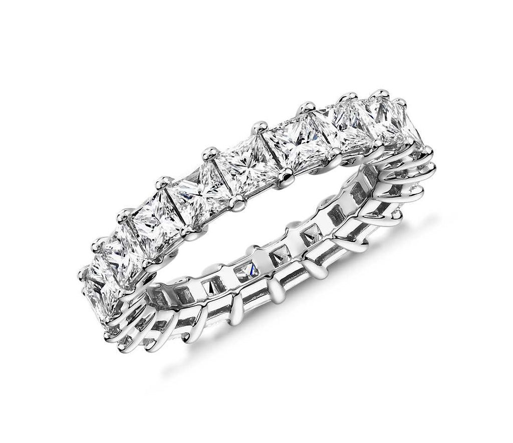 5.00CT Princess Cut Shared Prong Eternity Ring