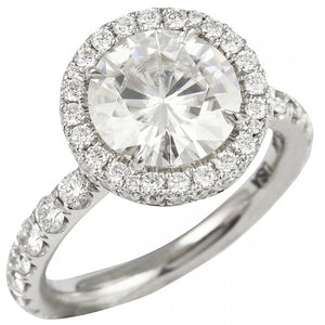 Round Cut Double Halo Engagement Ring