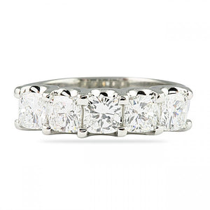 2.00CT Cushion Cut U Set Wedding Band