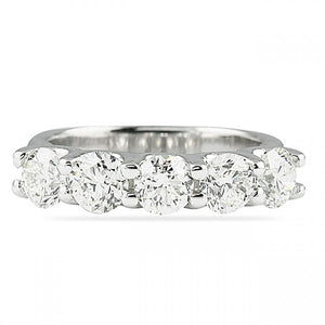 2.50CT U Setting Wedding Band