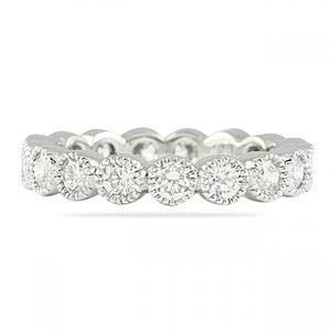 1.00CT Bezel Set Eternity Ring