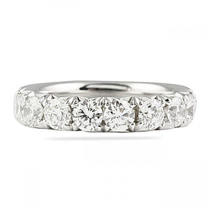 1.80CT Fishtail Set Halfway Wedding Band