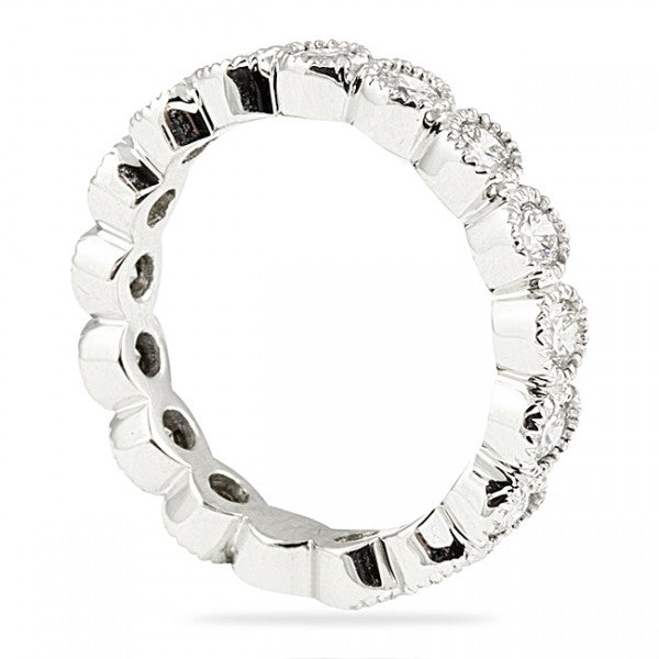 0.50CT Bezel Set Eternity Ring