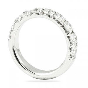 0.90CT Fishtail Set Halfway Wedding Band