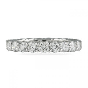 2.20CT Shared Prong Eternity Ring