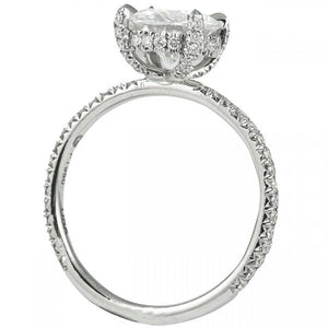 Round Cut Diamond Basket with Diamond Prongs