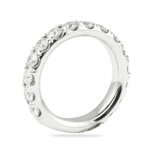 2.25CT Pave Set Wedding Band