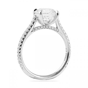 Round Cut Cathedral Engagement Ring